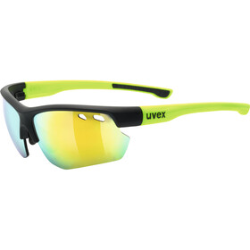 UVEX Sportstyle 115 Occhiali, black matt yellow/mirror yel
